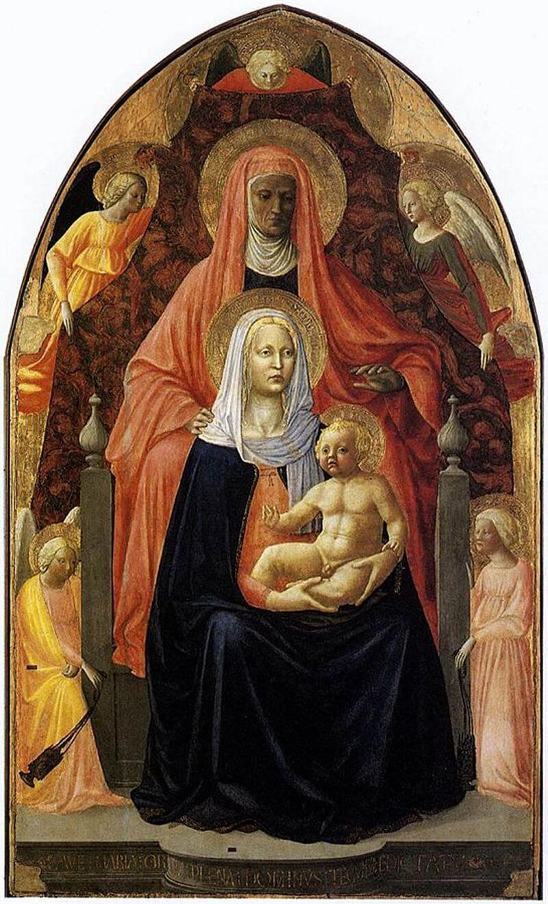 Madonna Col Bambino E Santanna